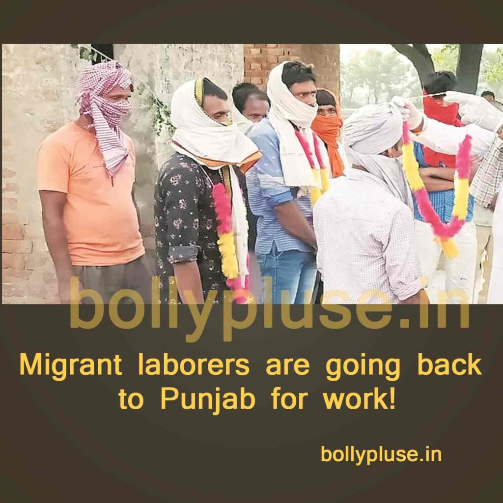 Migrant laborers are going back to Punjab for work!